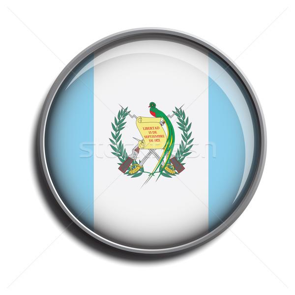 Bandeira ícone Guatemala isolado branco Foto stock © mizar_21984