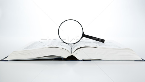 open book with loupe Stock photo © mizar_21984