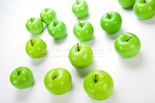 close-up of an apple green 1 Stock photo © mizar_21984