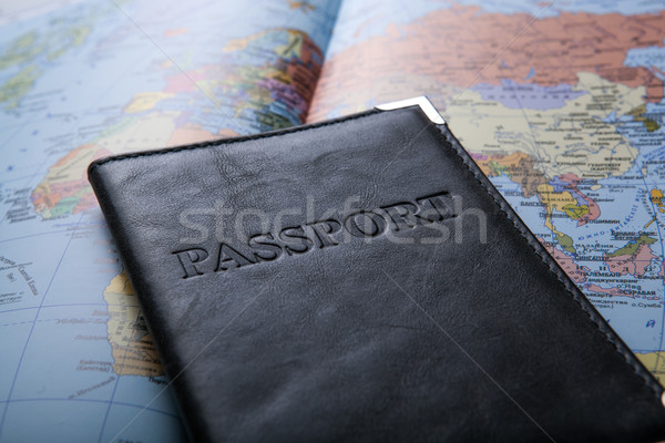 passport in the bag on a map  Stock photo © mizar_21984