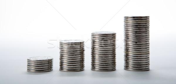 stacks of coins on a white background Stock photo © mizar_21984
