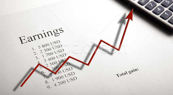 Asztal kereset számjegyek számológép diagram közelkép Stock fotó © mizar_21984