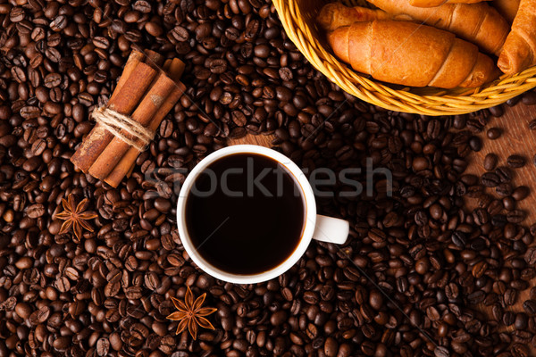 coffee still life on a wood background Stock photo © mizar_21984