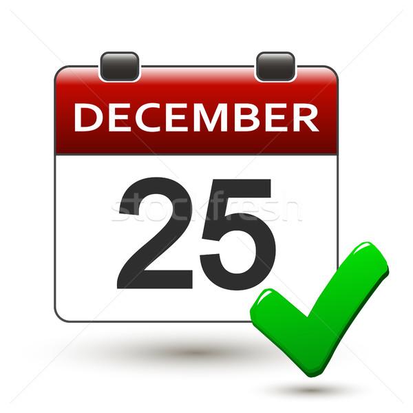календаря название На 25 декабрь белый зима Сток-фото © mizar_21984