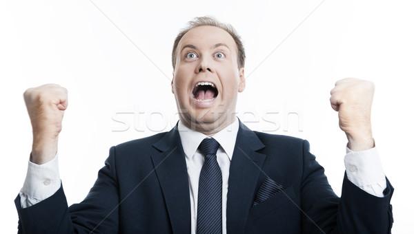 joyfully exclaiming man businessman Stock photo © mizar_21984