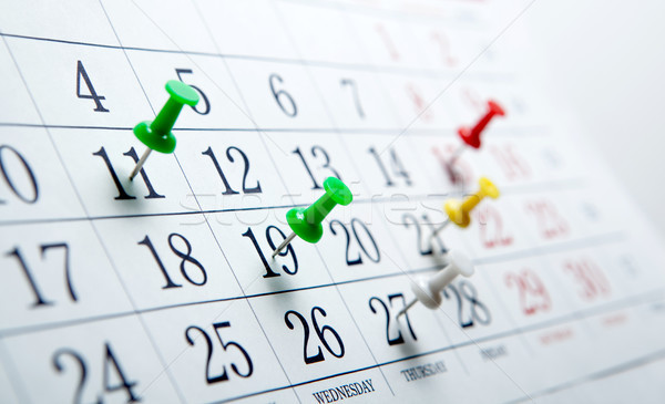 large wall calendar with number of days needles Stock photo © mizar_21984