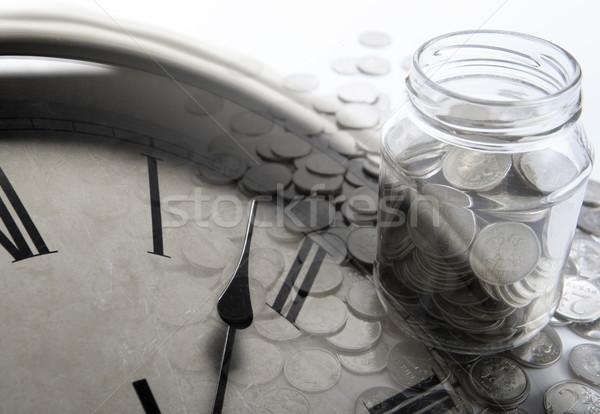 Banku monet cyfry czasu Zdjęcia stock © mizar_21984