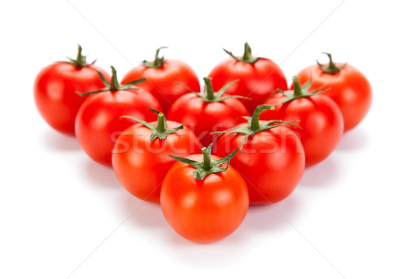 some red tomatoes on a white background Stock photo © mizar_21984