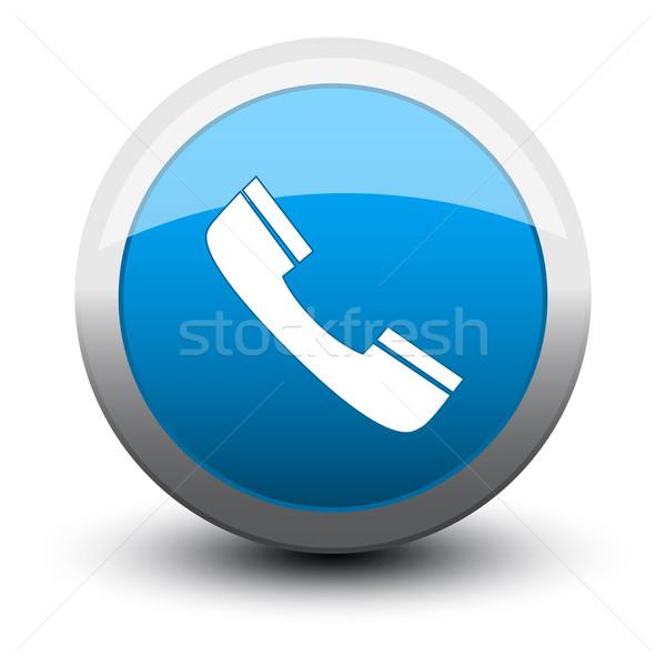button telephone call 2d Stock photo © mizar_21984