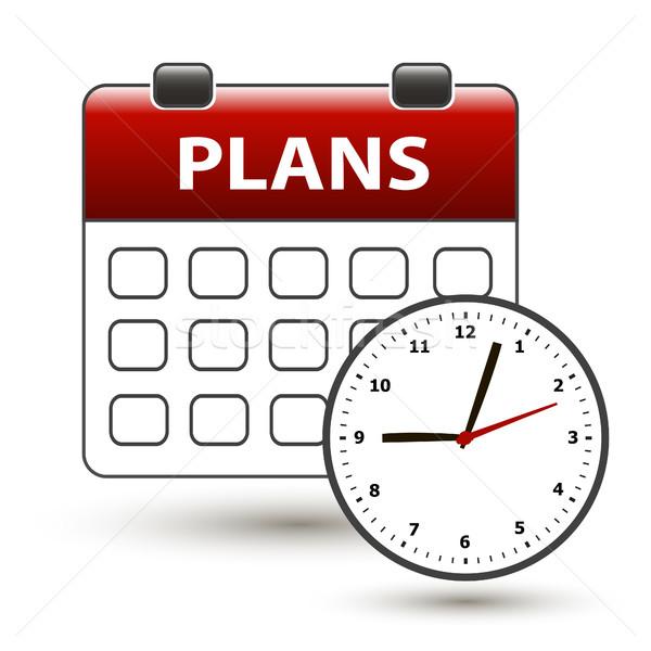 カレンダー タイトル 計画 白 ビジネス クロック ストックフォト © mizar_21984