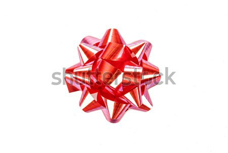 red glossy ribbon for gift boxes isolated Stock photo © mizar_21984