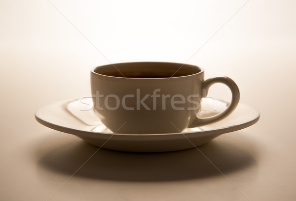 glass cup and saucer closeup Stock photo © mizar_21984