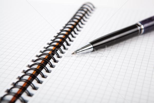 Pen notebook cell business ufficio Foto d'archivio © mizar_21984