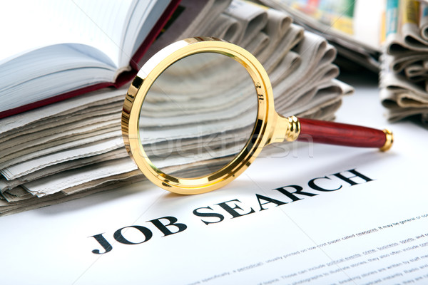office supplies and job search Stock photo © mizar_21984