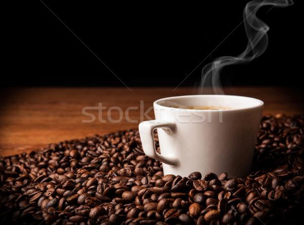 Café vida copo xícara de café feijões Foto stock © mizar_21984