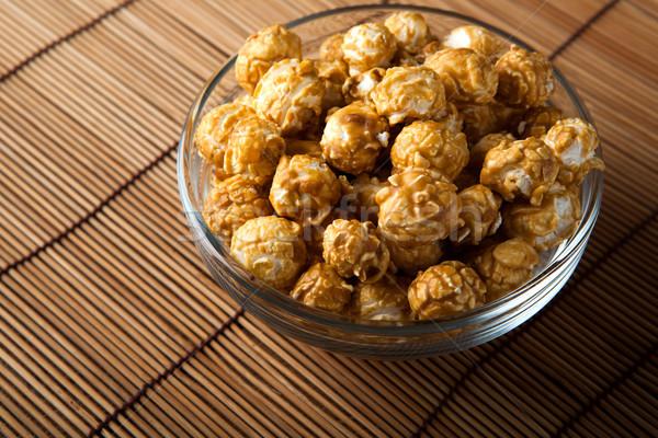 Gouden karamel mais dessert kok Stockfoto © mizar_21984