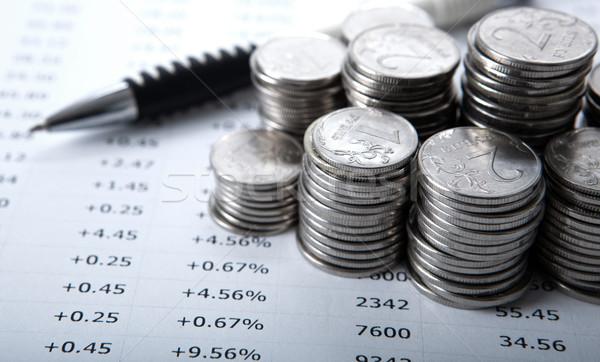 Moedas financiar banco mercado Foto stock © mizar_21984