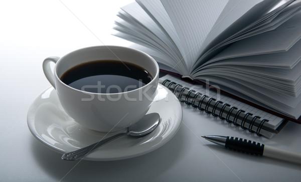 coffee breakfast at the workplace Stock photo © mizar_21984