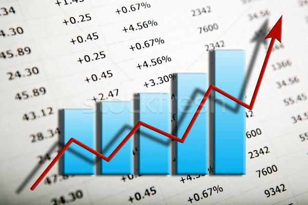 Tabla flecha número progreso financiar mercado Foto stock © mizar_21984