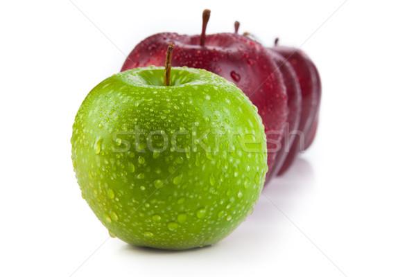 Gesztenyebarna almák felfelé csetepaté zöld alma Stock fotó © mizar_21984