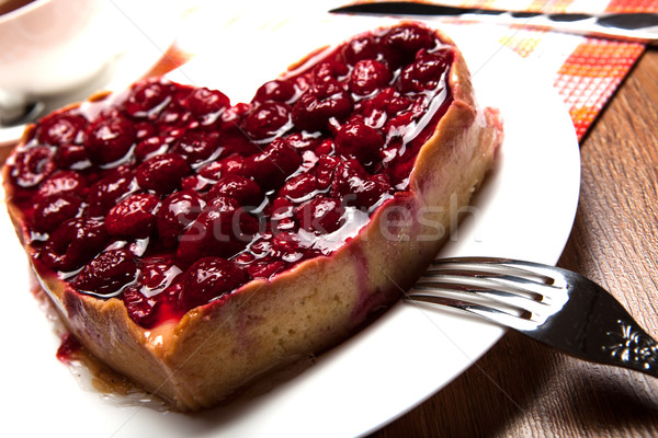 raspberry pie in the form of heart Stock photo © mizar_21984