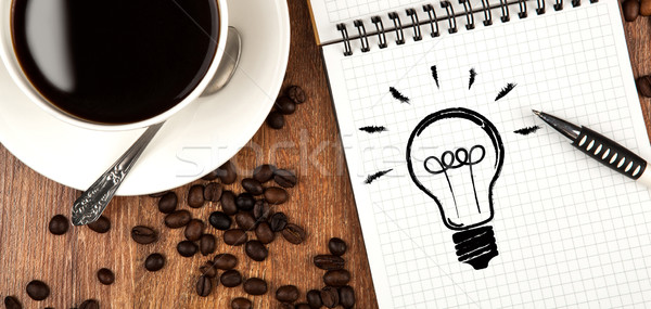business still life with ideas Stock photo © mizar_21984