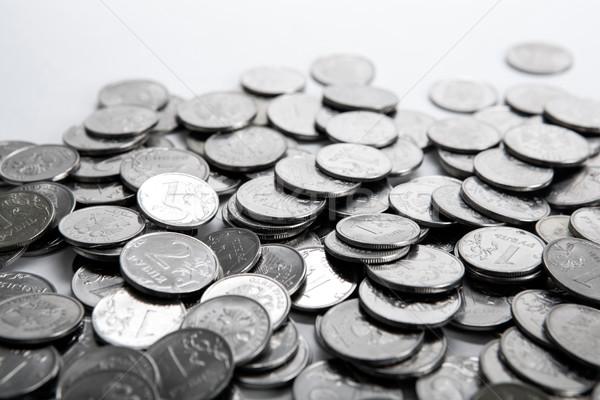 pile of coins on a white Stock photo © mizar_21984