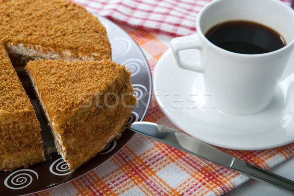 Still life of pastry and cup of coffee Stock photo © mizar_21984