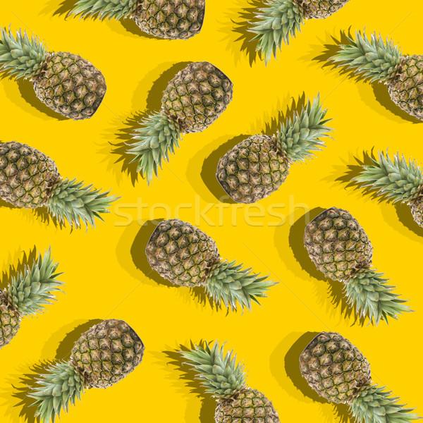 Giallo immagine maturo ananas illustrazione forma Foto d'archivio © mizar_21984