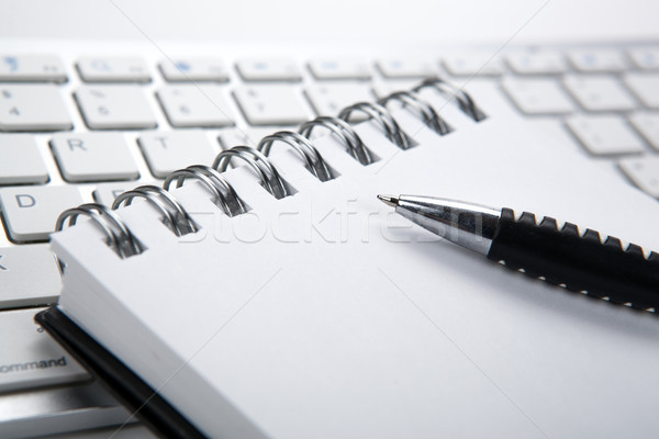 business still life of a notebook and keyboard on the desktop Stock photo © mizar_21984