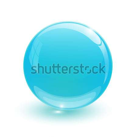 Navy blue glassy ball Stock photo © mizar_21984