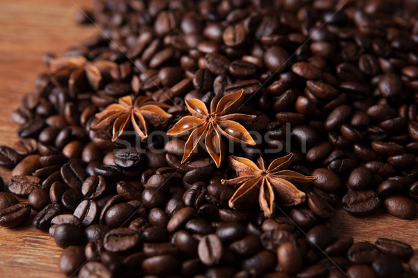 roasted coffee and star anise Stock photo © mizar_21984