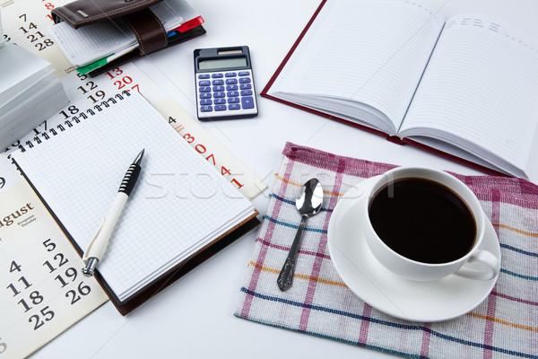 Business still life breakfast Stock photo © mizar_21984