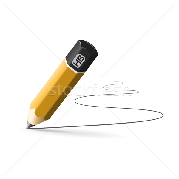 simple pencil hb with drawn line Stock photo © mizar_21984
