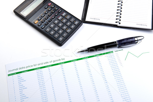 business still-life with digits and calculator Stock photo © mizar_21984