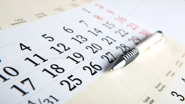 calendar days with numbers and pen Stock photo © mizar_21984