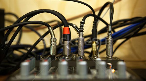 sound system with wires Stock photo © mizar_21984