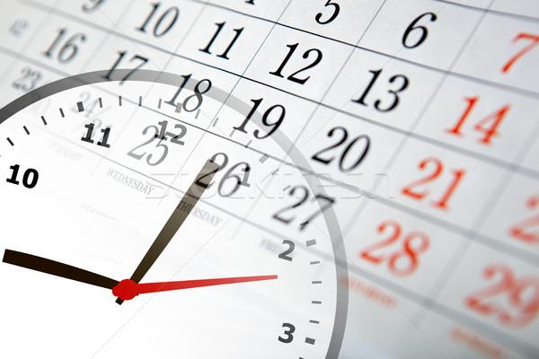 Fal naptár szám óra közelkép idő Stock fotó © mizar_21984