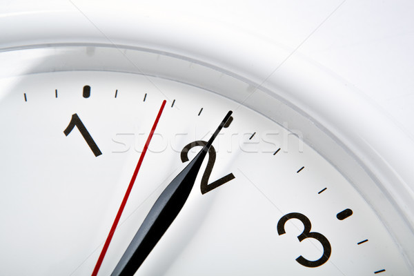 big clock face on a white table closeup Stock photo © mizar_21984