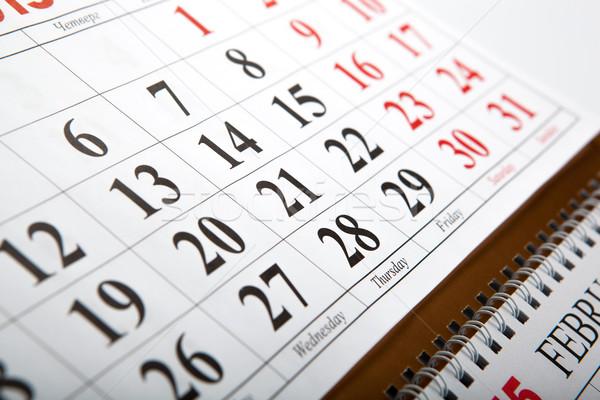 wall calendars laid on the table Stock photo © mizar_21984