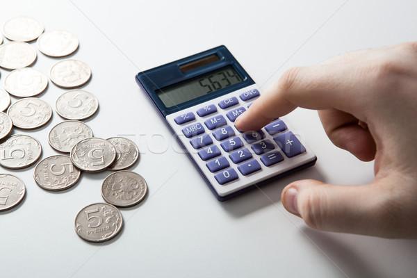 Stock fotó: Férfi · költségvetés · fehér · férfi · fehér · közelkép · pénz
