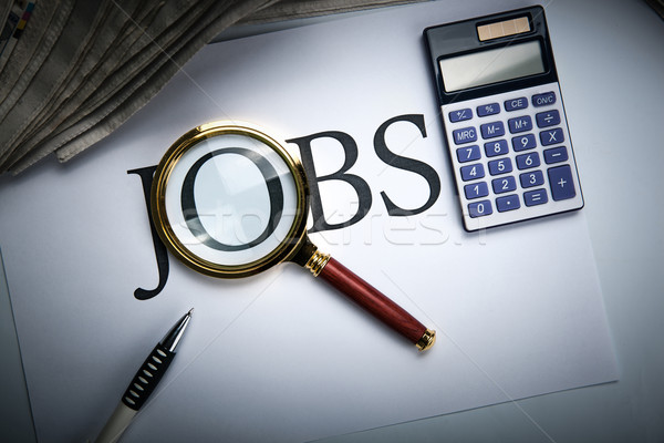 job search still life with title jobs Stock photo © mizar_21984