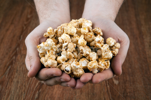 Persone popcorn dessert cuoco Foto d'archivio © mizar_21984
