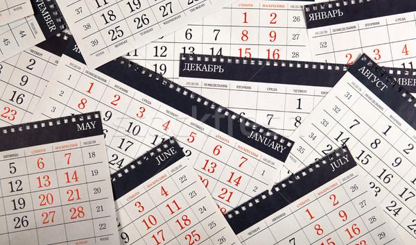 pile of calendar sheets on the table  Stock photo © mizar_21984