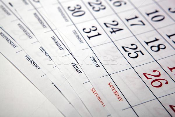 Duży wydrukowane ściany kalendarza Zdjęcia stock © mizar_21984