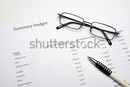 Działalności papieru pulpit pracy Zdjęcia stock © mizar_21984