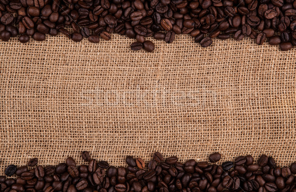 roasted coffee beans on the bag Stock photo © mizar_21984