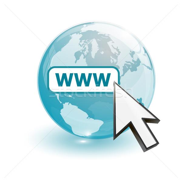 Mapa do mundo world wide web negócio globo mundo Foto stock © mizar_21984