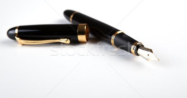 Füller weiß schriftlich Flugzeug Tinte Stock foto © mizar_21984