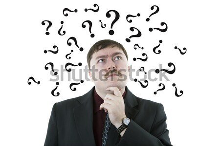 businessman in stress with questions Stock photo © mizar_21984